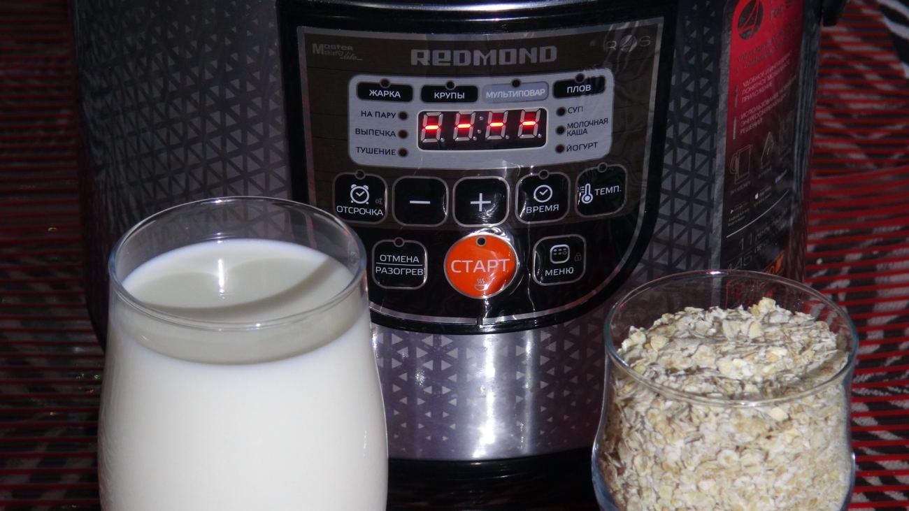 пошаговая инструкция молочная каша в мультиварке филипс